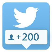 200 followers Twitter