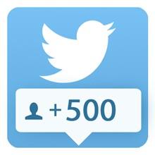 500 followers Twitter