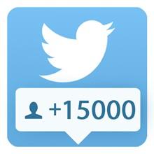 15000 followers Twitter