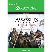 ✅ ASSASSIN´S CREED TRIPLE PACK XBOX ONE 🔑KEY