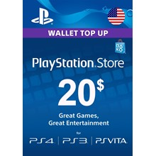 ⭐ PlayStation Network Card PSN 20 USD US (USA ONLY) ⭐