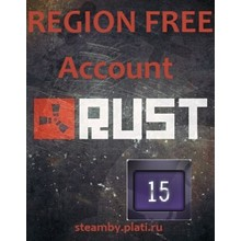 Rust UNLIMITED acс +EMAIL 15Year Badge 8LVL Region Free