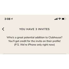 Clubhouse Invite. Fast Delivery