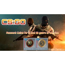 CS: GO 🔥 account with Two Medals for 5 and 10 years of