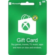 Xbox gift card brazil 5brl