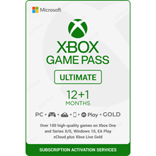 ✅ XBOX GAME PASS ULTIMATE 12+1 MONTH+ EA PLAY +Cashback