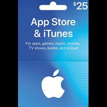 iTUNES GIFT CARD - $25 ✅(USA)