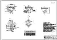 The head of the composite piston internal combustion engine, AutoCad format