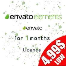 ✅ ENVATO ELEMENTS - 1 month license / PRIVATE