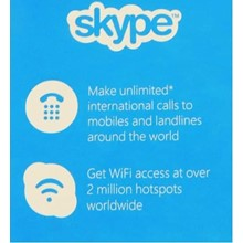 ☎Skype Unlimited World – 1 Month Subscription
