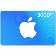iTunes Gift Card Ru 3000 any country card via paymaster