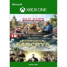 Far Cry 5 GOLD + Far Cry New Dawn DELUXE XBOX  🔑