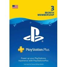 Playstation PLUS (PSN PLUS) USA 3 MONTHS (90 DAYS)