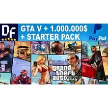 GTA V Premium + 💲1kk CASH + StarterPack [Change Mail]