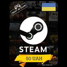 ⭐ Steam Wallet Gift Card 50 UAH ⭐
