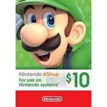 NINTENDO ESHOP 10$ USD CARD - USA