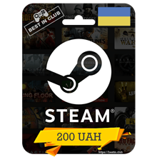 ⭐ Steam Wallet Gift Card 200 UAH ⭐