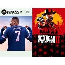 FIFA 22 Ultimate + RDR 2 Xbox One , Series X I S