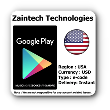 $10 Google Play US Region - (Instant Delivery)