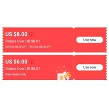 🚀 8$/8.01$ 6$/6.01$ ALGERIA/TURKEY/UA/EU/US 24.10 APP
