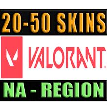 VALORANT   20 - 50 SKINS   NA - REGION ✅ WARRANTY 🔥