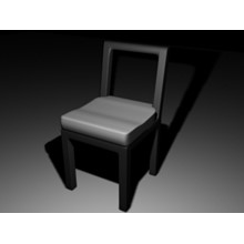 Model HI-POLY chair for 3ds Max