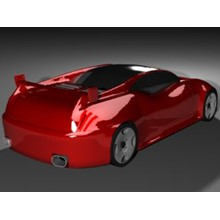 Model sports concept car red