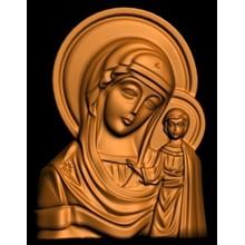 3D model of Orthodox icon of Kazan Mother of God