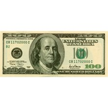 Scanned images of American dollars