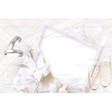 Frame wedding, lace