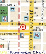 Map of Rostov-on-Don for SmartComGPS