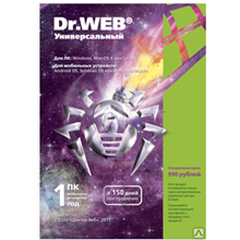 Dr.Web: 1 PC and 1 mobile device for 1 year