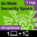 Dr.Web on 1 PC + 1 mobile device: renewal * for 1 year