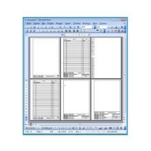 Шаблоны рамок и чертежные шрифты - комплект