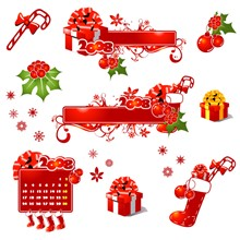Christmas vector cliparts (Illustrator) have thumbs