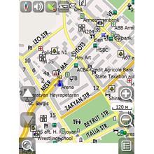 Yerevan map for NAVITEL