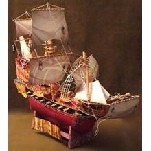 Paper model pirate schooner Wicked Wench