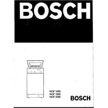 Instructions for washing machines BOSCH WOF1600 1800 2000