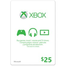 XBOX LIVE CARD $ 25 (USA) | DISCOUNTS