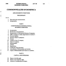 Dominica: Law on International Business Companies