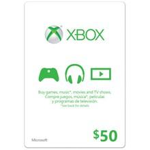 XBOX LIVE CARD $ 50 (USA) | DISCOUNTS