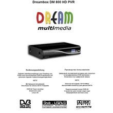 Dreambox 800 HD - User Guide in Russian