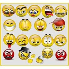 3D Smileys. Smiles 3D -krut