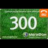 Единая карта оплаты Мегафон 300 руб.