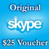 25$ Ваучер пополнения 25USD Активация на Skype.com