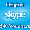 40$ Ваучеры пополнения 4*10$ Активация на Skype.com