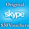 30$ Ваучеры пополнения 3*10$ Активация на Skype.com