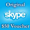 50$ Ваучеры пополнения 5*10$ Активация на Skype.com