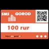 Карта оплаты на 100р в сервисе smsgorod (прямой канал)