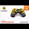 Единая карта оплаты Билайн 250 руб.